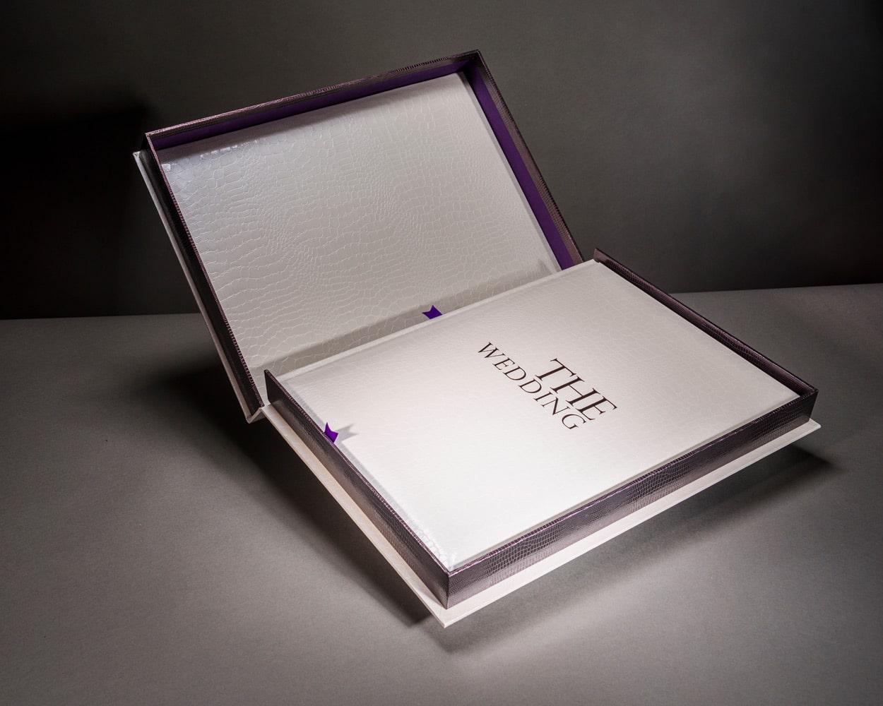 Inside luxury wedding photo book