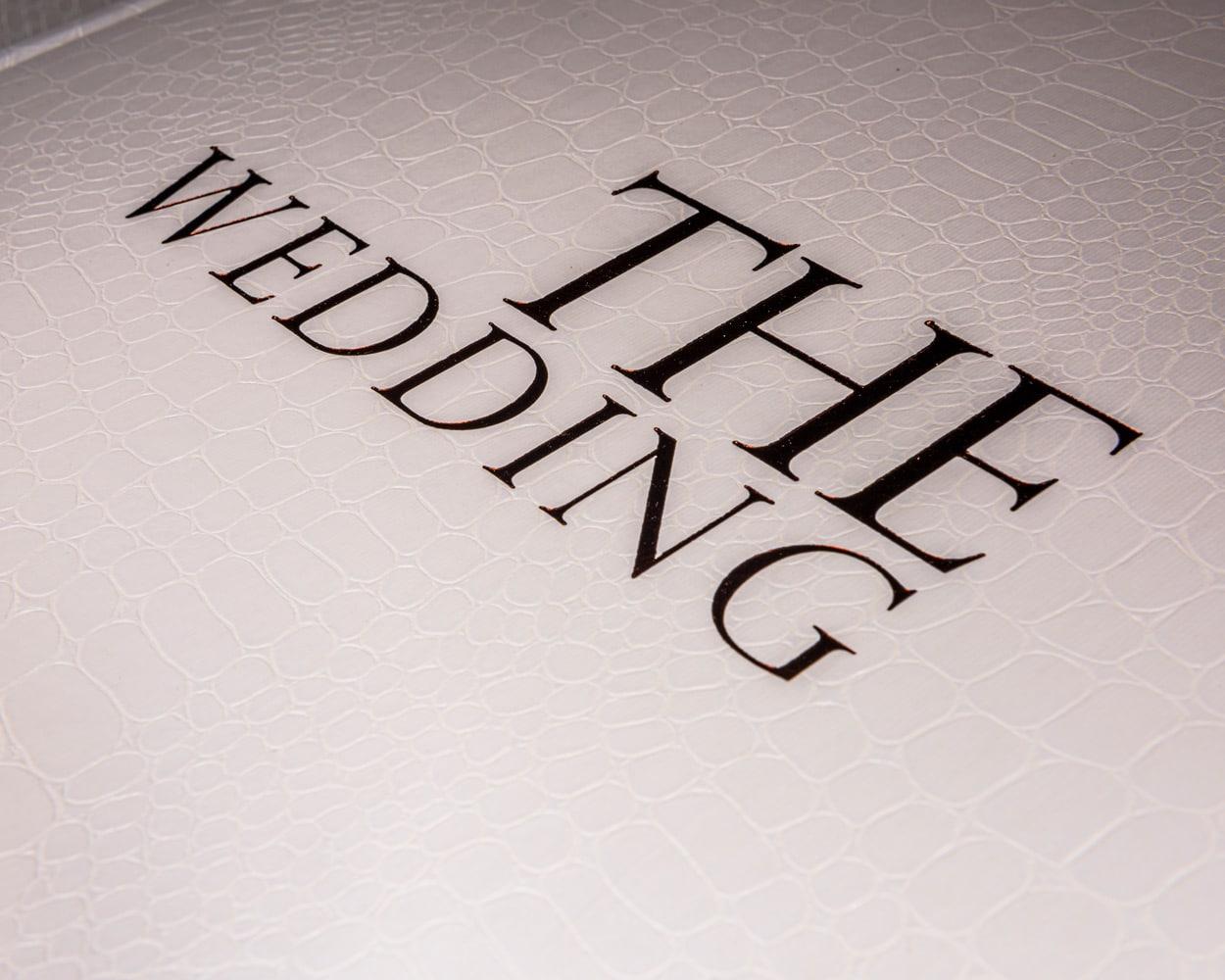 Luxury wedding photo album